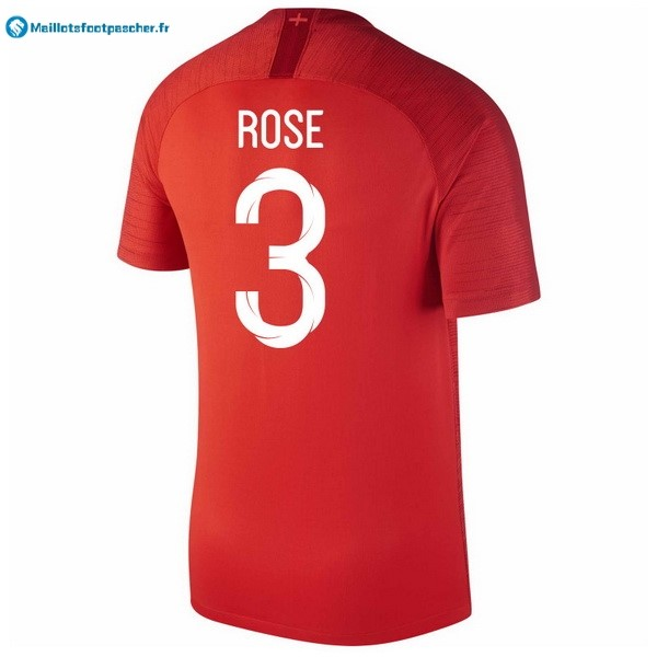 Maillot Foot Pas Cher Angleterre Exterieur Rose 2018 Rouge