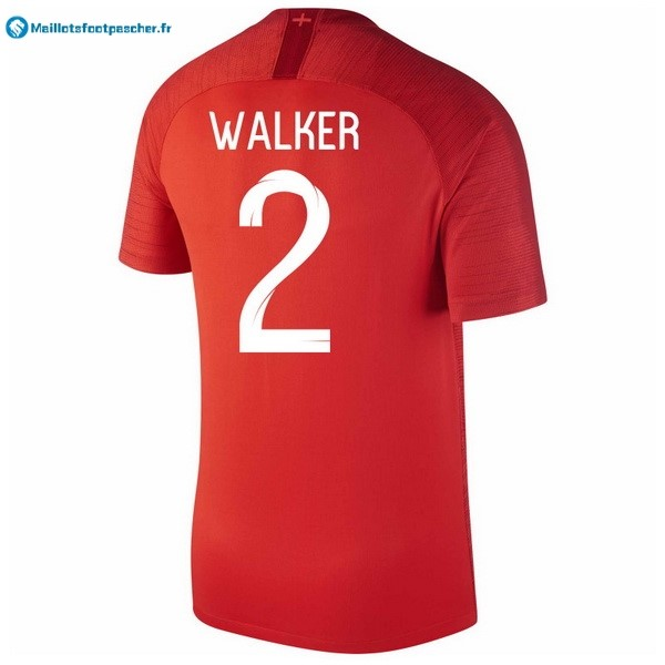 Maillot Foot Pas Cher Angleterre Exterieur Walker 2018 Rouge