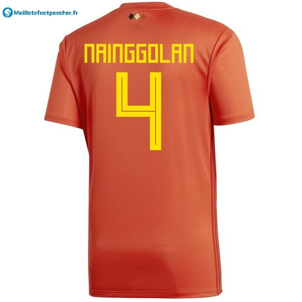 Maillot Foot Pas Cher Belgica Domicile Nainggolan 2018 Rouge