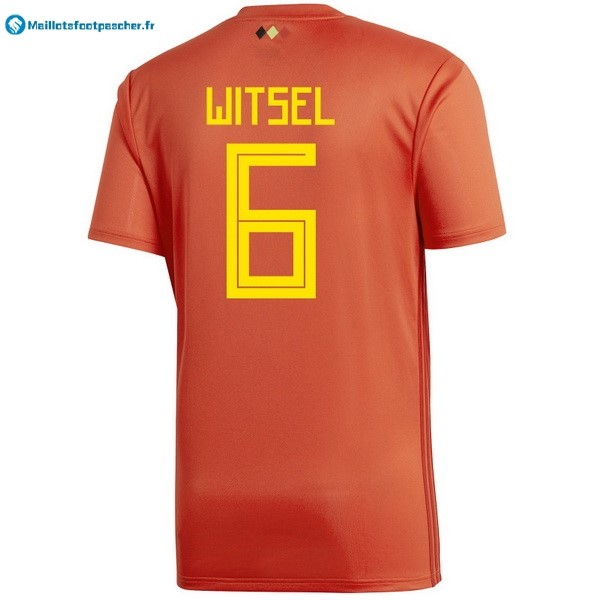 Maillot Foot Pas Cher Belgica Domicile Witsel 2018 Rouge