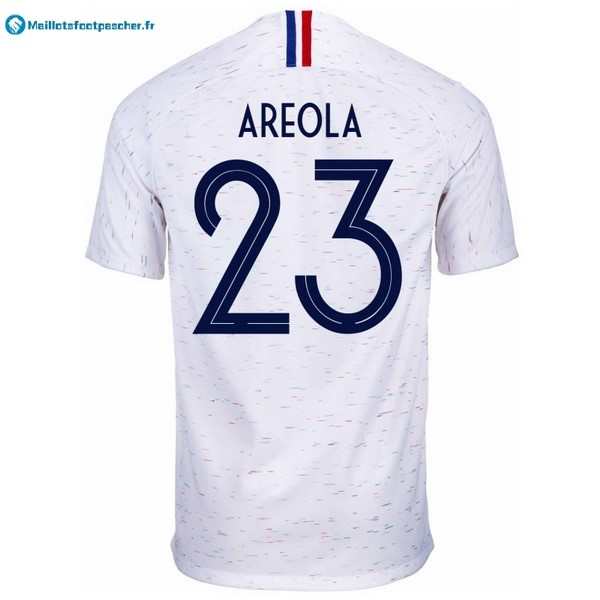 Maillot Foot Pas Cher France Exterieur Areola 2018 Blanc