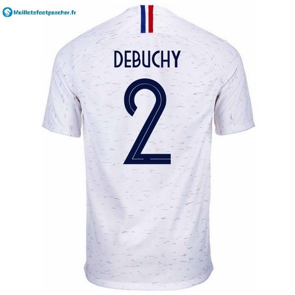 Maillot Foot Pas Cher France Exterieur Debuchy 2018 Blanc