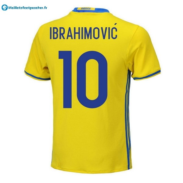 Maillot Foot Pas Cher Sweden Domicile Ibrahimovic 2018 Jaune