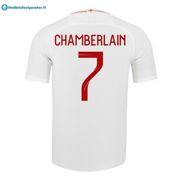 Maillot Foot Pas Cher Angleterre Domicile Chamberlain 2018 Blanc