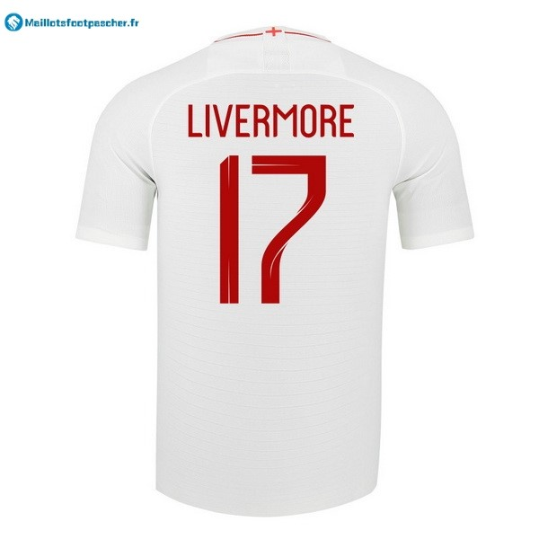 Maillot Foot Pas Cher Angleterre Domicile Livermore 2018 Blanc