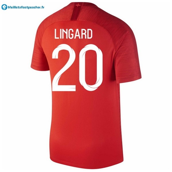 Maillot Foot Pas Cher Angleterre Exterieur Lingard 2018 Rouge