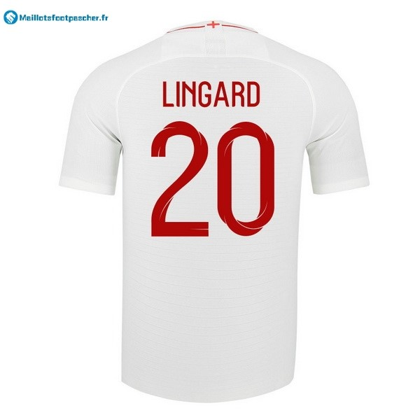 Maillot Foot Pas Cher Angleterre Domicile Lingard 2018 Blanc