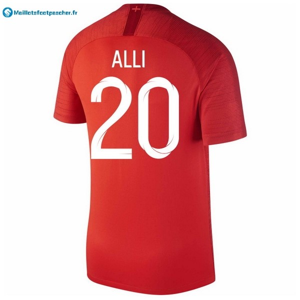 Maillot Foot Pas Cher Angleterre Exterieur Alli 2018 Rouge
