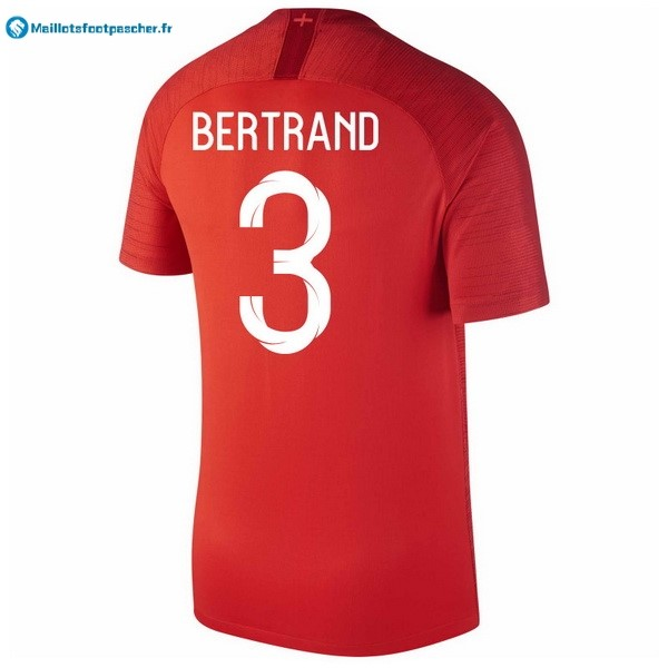 Maillot Foot Pas Cher Angleterre Exterieur Bertrand 2018 Rouge