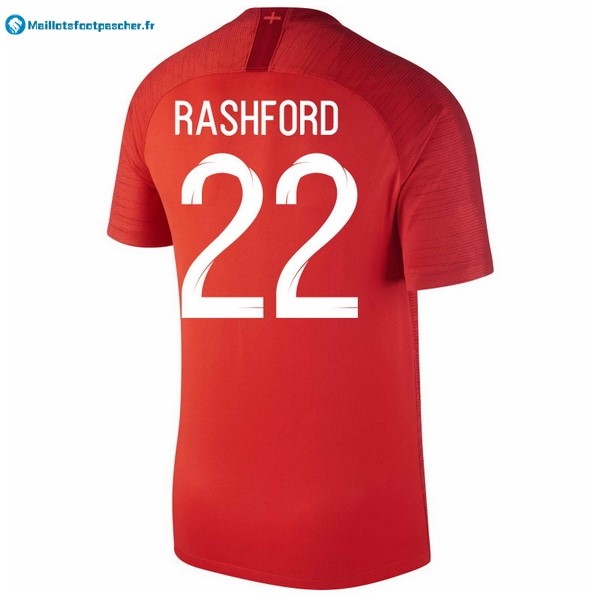Maillot Foot Pas Cher Angleterre Exterieur Rashford 2018 Rouge