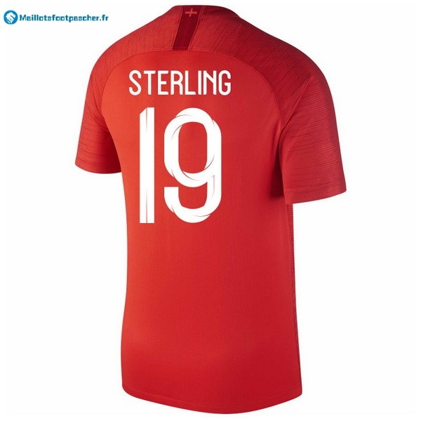 Maillot Foot Pas Cher Angleterre Exterieur Sterling 2018 Rouge