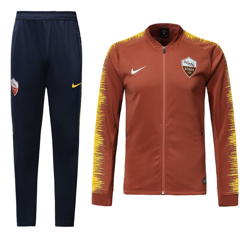Survetement Foot Pas Cher AS Roma 2018 2019 Orange