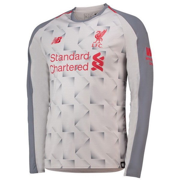 Maillot Foot Pas Cher Liverpool Third ML 2018 2019 Blanc