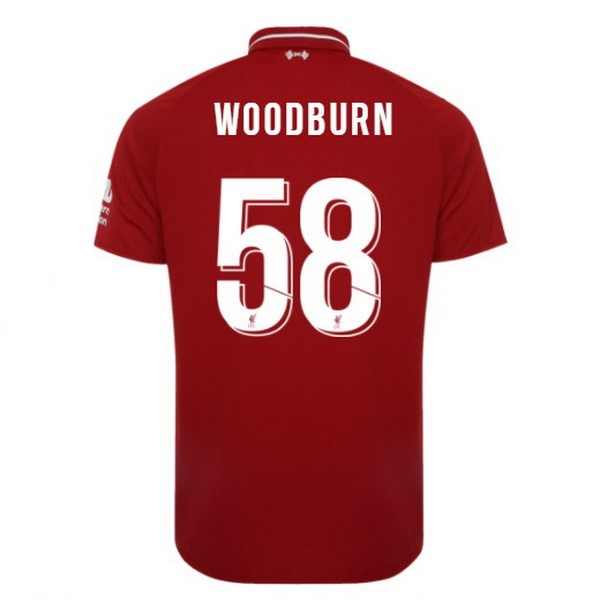 Maillot Foot Pas Cher Liverpool Domicile Woodburn 2018 2019 Rouge