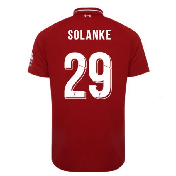 Maillot Foot Pas Cher Liverpool Domicile Solanke 2018 2019 Rouge