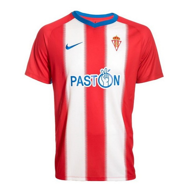 Maillot Foot Pas Cher Real Sporting de Gijón Domicile 2018 2019 Rouge