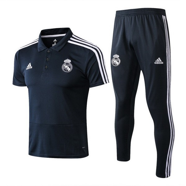 Polo Foot Pas Cher Real Madrid Ensemble Complet 2018 2019 Bleu