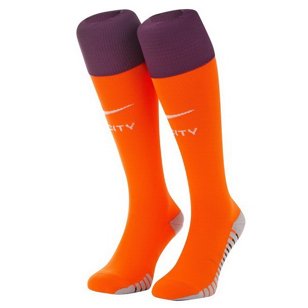 Chaussette Foot Pas Cher Manchester City Third 2018 2019 Orange