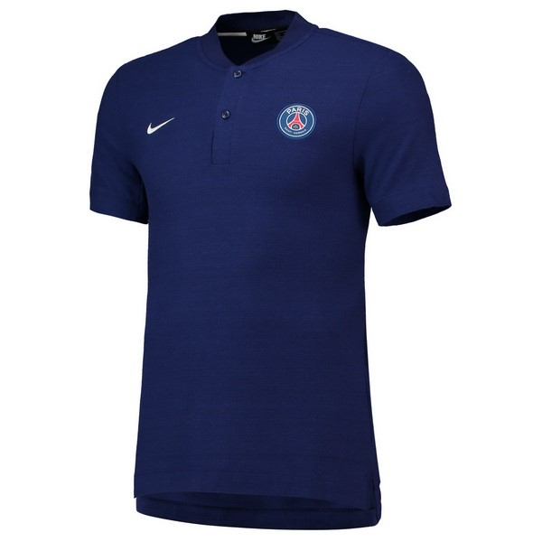 Polo Foot Pas Cher Paris Saint Germain 2018 2019 Bleu