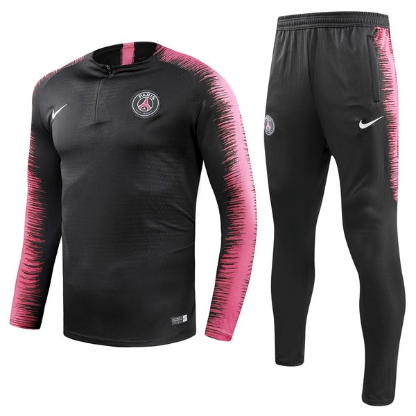 Survetement Foot Pas Cher Paris Saint Germain 2018 2019 Noir Rose Marine