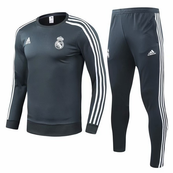 Survetement Foot Pas Cher Real Madrid 2018 2019 Vert Gris