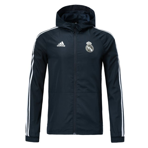 Coupe Vent Foot Pas Cher Real Madrid 2018 2019 Gris Marine