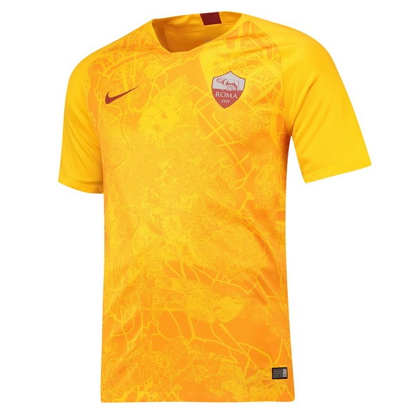 Maillot Foot Pas Cher As Roma Third 2018 2019 Jaune