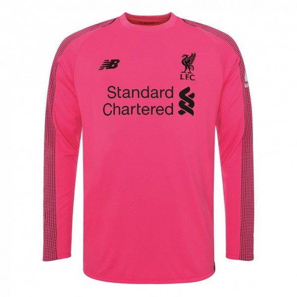 Maillot Foot Pas Cher Liverpool Third Manga Larga Gardien 2018 2019 Rose