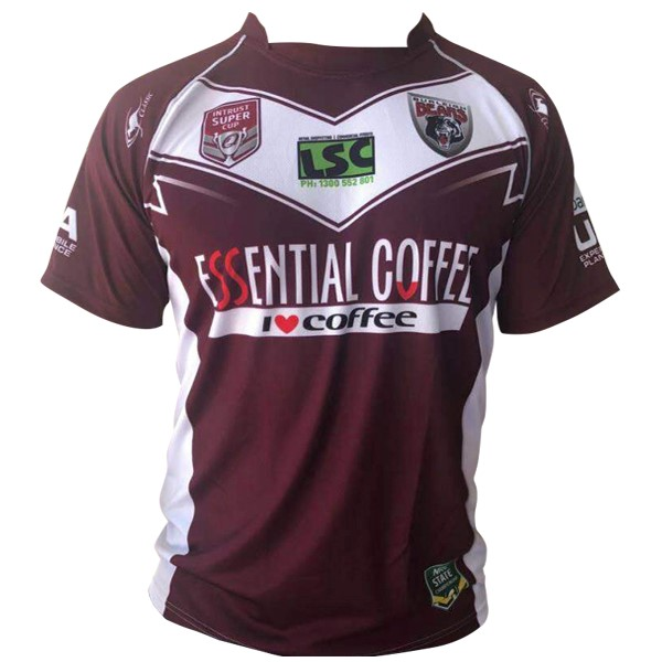 Maillot Rugby Pas Cher Burleigh Bears Domicile 2018 2019 Rouge