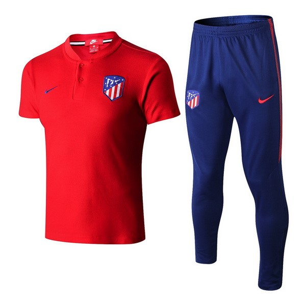 Polo Foot Pas Cher Atlético de Madrid Ensemble Complet 2018 2019 Rouge