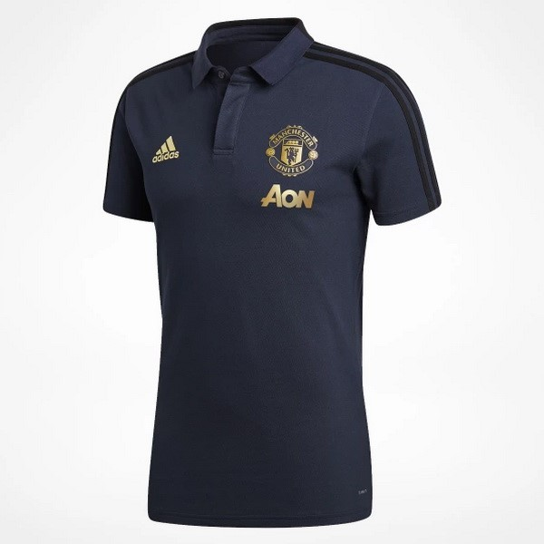 Polo Foot Pas Cher Manchester United 2018 2019 Bleu