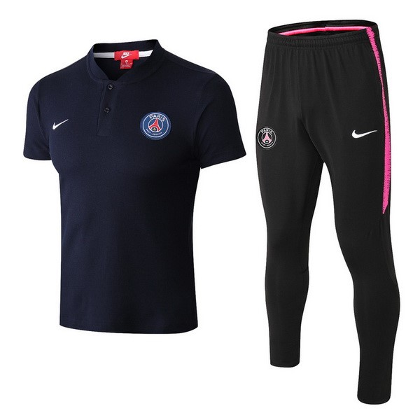 Polo Foot Pas Cher Paris Saint Germain Ensemble Complet 2018 2019 Bleu