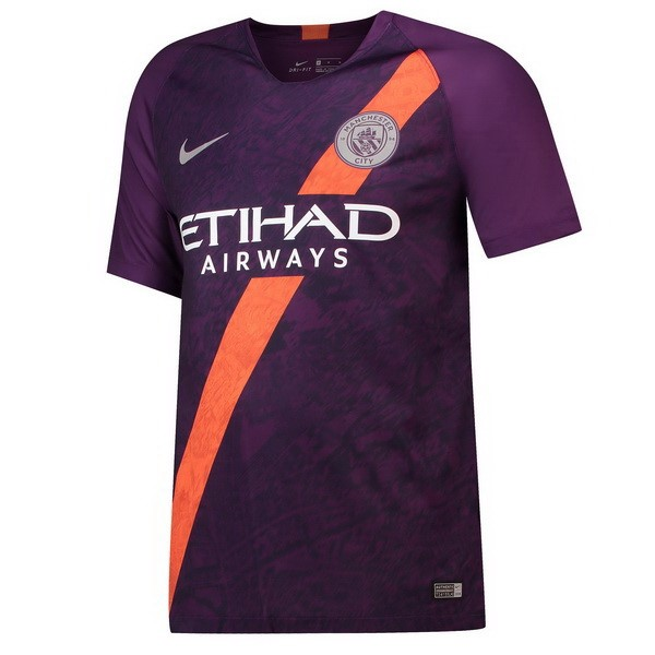 Thailande Maillot Foot Pas Cher Manchester City Third 2018 2019 Purpura