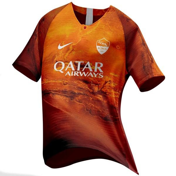 EA Sport Maillot Foot Pas Cher AS Roma 2018 2019 Orange