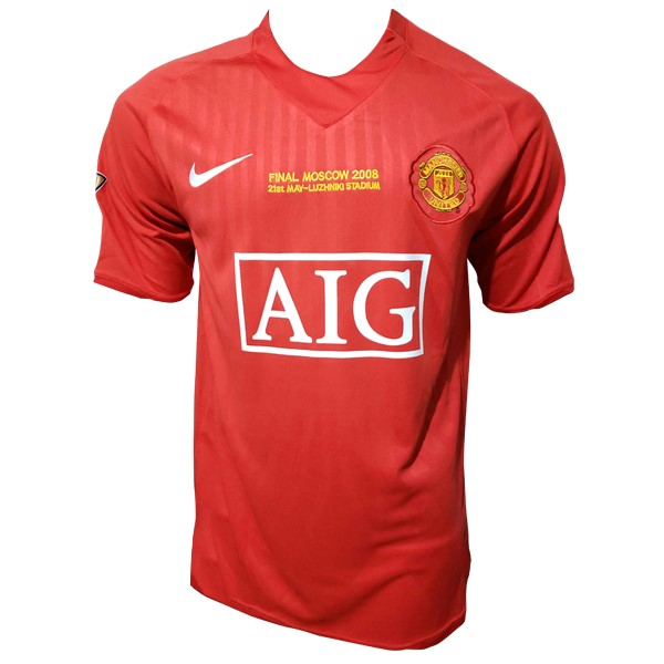 Maillot Foot Pas Cher Manchester United Domicile Retro 2007 2008 Rouge