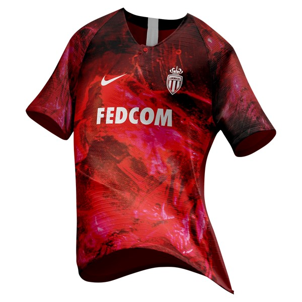 EA Sport Maillot Foot Pas Cher AS Monaco 2018 2019 Rouge