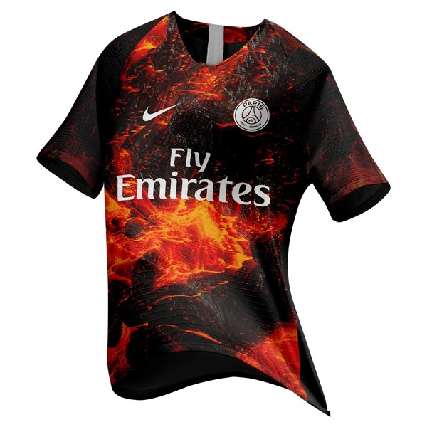 EA Sport Maillot Foot Pas Cher Paris Saint Germain 2018 2019 Orange