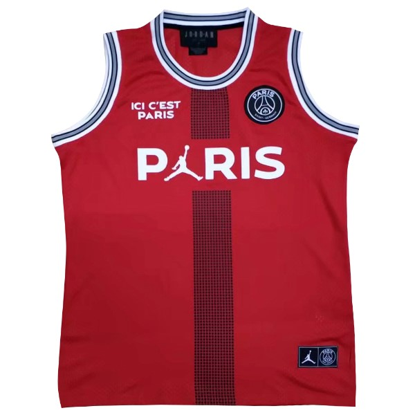 JORDAN Maillot Foot Pas Cher Paris Saint Germain Sin Mangas 2018 2019 Rouge