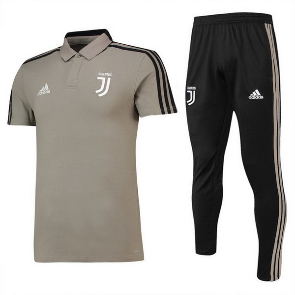 Polo Juventus Ensemble Complet 2018 2019 Marron Noir