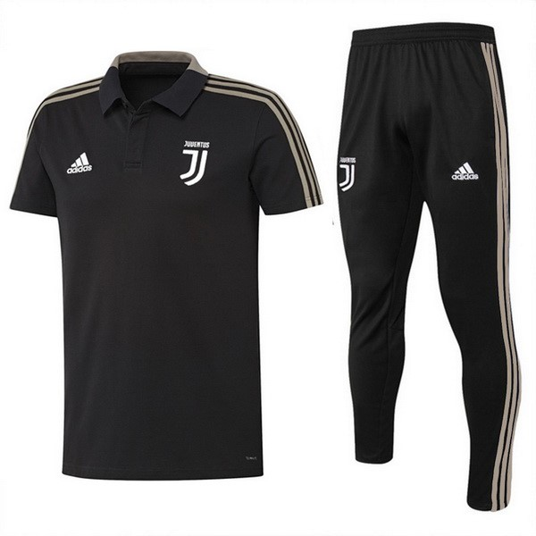 Polo Juventus Ensemble Complet 2018 2019 Noir Marron