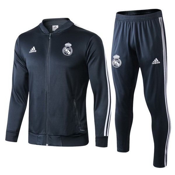 Survetement Foot Pas Cher Real Madrid 2018 2019 Gris Marine