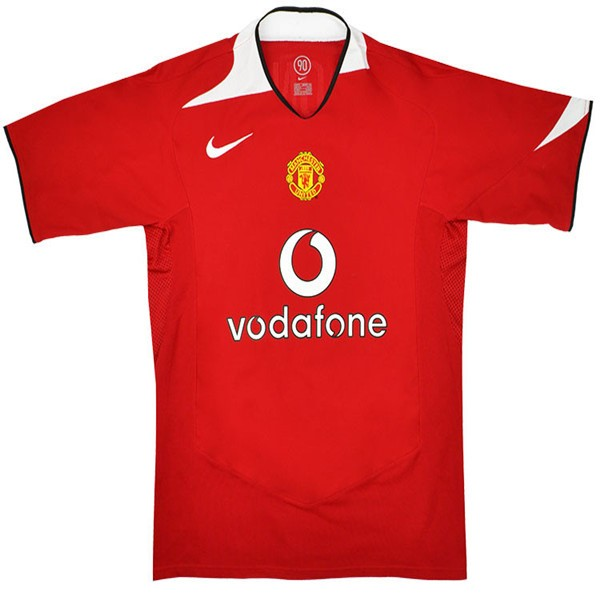 Maillot Foot Pas Cher Manchester United Domicile Retro 2005/06 Rouge