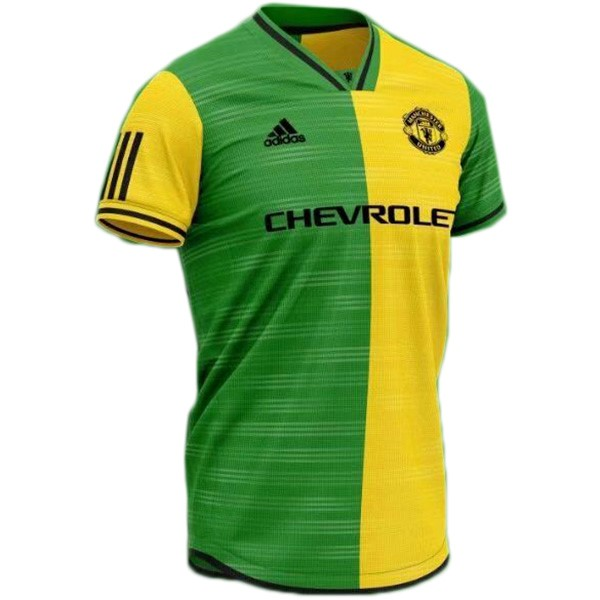 Maillot Foot Pas Cher Manchester United Concept 2019 2020 Jaune Vert