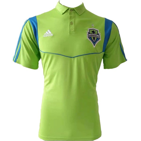 Polo Foot Pas Cher Seattle Sounders 2019 2020 Vert Fluorescente