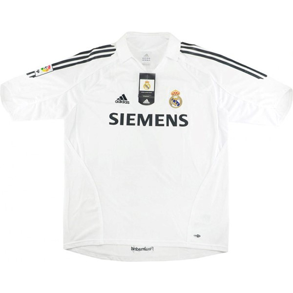 Maillot Foot Pas Cher Real Madrid Domicile Retro 2005/06 Blanc