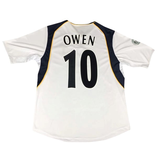 European Super Cup Maillot Foot Pas Cher Liverpool Owen Domicile NO.10 Retro 2005 Blanc