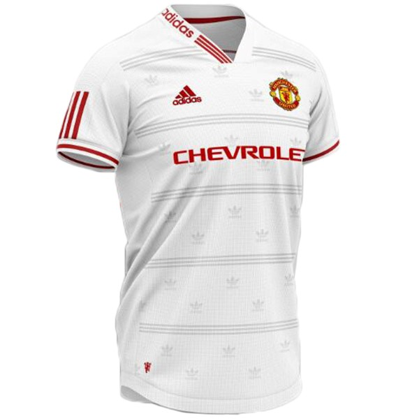 Maillot Foot Pas Cher Manchester United Concept 2019 2020 Blanc Rouge