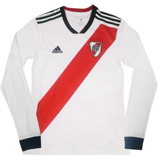 Maillot Foot Pas Cher River Plate Domicile ML 2018 2019 Blanc