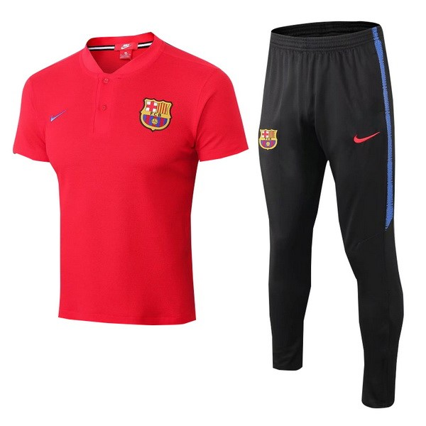 Polo Foot Pas Cher Barcelona Ensemble Complet 2018 2019 Rouge