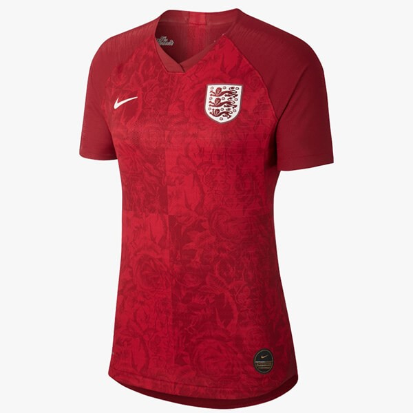 Maillot Foot Pas Cher Angleterre Exterieur Femme 2019 Rouge
